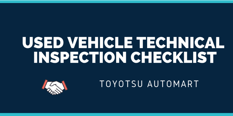 used vehicle technical inspection checklist
